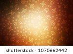 dark orange vector cover with... | Shutterstock .eps vector #1070662442