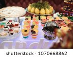 various desserts of candy bar... | Shutterstock . vector #1070668862