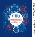 4th of july  american... | Shutterstock .eps vector #1070669006
