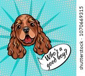 Cocker Spaniel Portrait. Dog...