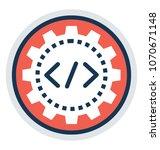 php development  flat vector... | Shutterstock .eps vector #1070671148