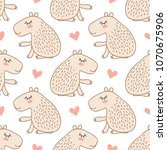 seamless pattern with cute...   Shutterstock . vector #1070675906
