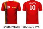 spain national soccer team...   Shutterstock .eps vector #1070677496