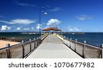 redcliffe jetty is one of the...   Shutterstock . vector #1070677982