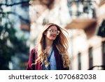 female fashion concept. outdoor ... | Shutterstock . vector #1070682038