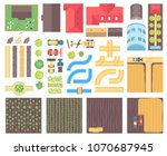 farm elements   set of modern... | Shutterstock .eps vector #1070687945
