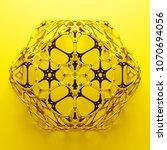 3d render abstract  geometrical ... | Shutterstock . vector #1070694056