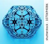3d render abstract  geometrical ... | Shutterstock . vector #1070694086