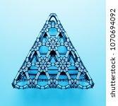 3d render abstract  geometrical ... | Shutterstock . vector #1070694092