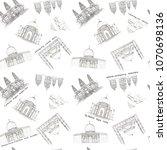 hand drawn architecture sketch... | Shutterstock . vector #1070698136