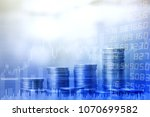 stock market or trading graph... | Shutterstock . vector #1070699582