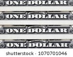 close up of us one dollar bills.... | Shutterstock . vector #1070701046