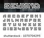 vector of square alphabet... | Shutterstock .eps vector #1070704295