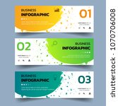 set of infographics banners... | Shutterstock .eps vector #1070706008