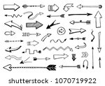 set of hand drawn different... | Shutterstock .eps vector #1070719922
