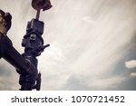 oil well in ayoluengo de la... | Shutterstock . vector #1070721452