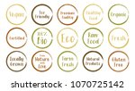 vector brown green organic... | Shutterstock .eps vector #1070725142