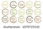 vector brown green organic...   Shutterstock .eps vector #1070725142