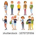 vector set of young people   Shutterstock .eps vector #1070729306