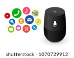 voice control user interface... | Shutterstock .eps vector #1070729912