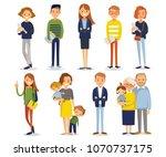 vector set of different people | Shutterstock .eps vector #1070737175