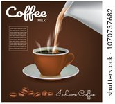 coffee concept illustration... | Shutterstock .eps vector #1070737682