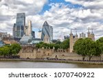 the city of london financial...   Shutterstock . vector #1070740922