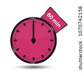 timer 60 minutes   vector... | Shutterstock .eps vector #1070742158
