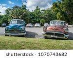 cuba  havana  2018  old vintage ... | Shutterstock . vector #1070743682