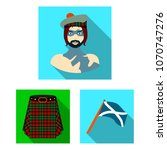 country scotland flat icons in... | Shutterstock .eps vector #1070747276