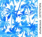 tropical background seamless... | Shutterstock .eps vector #1070747696