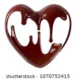 chocolate in the form of heart. ... | Shutterstock . vector #1070752415