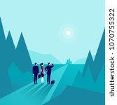 vector business concept... | Shutterstock .eps vector #1070755322
