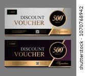 discount voucher template with... | Shutterstock .eps vector #1070768942
