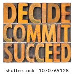 decide  commit  succeed  ... | Shutterstock . vector #1070769128