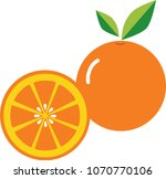 orange icon llustrator vector | Shutterstock .eps vector #1070770106