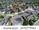 looking down fromsolar panel... | Shutterstock . vector #1070775962