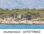 ancient ruins on the turkish...   Shutterstock . vector #1070778002