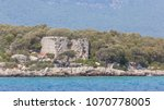 ancient ruins on the turkish... | Shutterstock . vector #1070778005