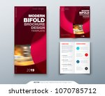 bi fold brochure or flyer... | Shutterstock .eps vector #1070785712
