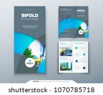 bi fold brochure or flyer... | Shutterstock .eps vector #1070785718