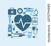 medical concept background... | Shutterstock . vector #1070794985