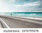summer road background of free... | Shutterstock . vector #1070795078