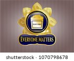 golden badge with popcorn icon ... | Shutterstock .eps vector #1070798678