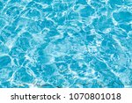 water in the pool of blue... | Shutterstock . vector #1070801018