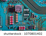 electronic circuit board close... | Shutterstock . vector #1070801402
