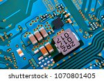 electronic circuit board close... | Shutterstock . vector #1070801405
