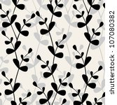vector seamless pattern. floral ... | Shutterstock .eps vector #107080382