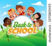 back to school flyer | Shutterstock .eps vector #1070805455