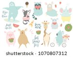 cute animals charachters... | Shutterstock .eps vector #1070807312